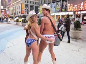 Naked Cowgirl and Naked Cowboy