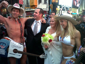 Naked Cowgirl and Naked Cowboy Travel Channel Wedding